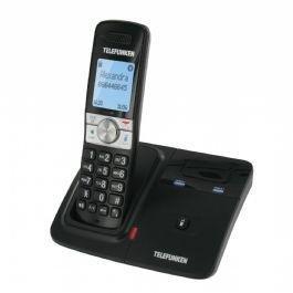 Telefunken TX 101 Bluetooth DECT Negro - Teléfono (Teléfono DECT, Altavoz, 200 entradas, Identificador de llamadas, Negro)