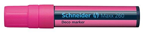 Deco-marker (Schneider Novus 126009 Deco-Marker 260, 5+15 mm, rosa)