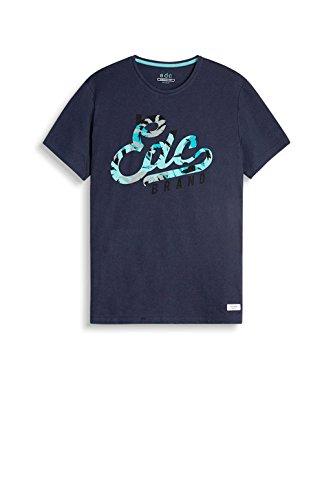 edc by ESPRIT Herren T-Shirt 057cc2k041 Blau (Navy 400)