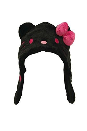 Hello Kitty Mütze Cap (Pink und Schwarz) aus Japan - Kostüm (Schwarz) (Hello Kitty Kostüm Für Erwachsene)