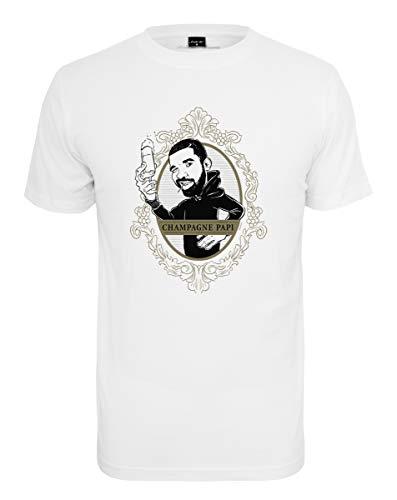 Mister Tee Herren Champagne Papi T-Shirt, White, XS Preisvergleich