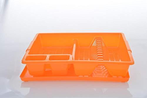 HXTXAT Material De Pp Que Hace Utensilios De Cocina Escurreplatos, Diseño Hueco, Drenaje Rápido, Naranja