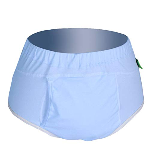 Dbtxwd Wiederverwendbare Erwachsenenwindeln für Frauen, Männer Bariatrische, Senioren, Patienten, Inkontinenz-Pants Tuch Windeln Windeln Unterwäsche Schutz Bett Sheet,Male,XL