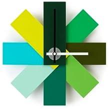 Normann Copenhagen Reloj Watch Me pared verde Rasmus Gottliebsen 1949, polvo-revestido Alluminum, de cuarzo-reloj.