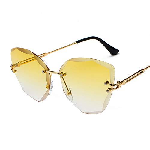 ZMGAW Fashion Lady Sonnenbrille, Sole, ohne Fassung für Damen Sonnenbrille Vintage mit klassischem Rahmen