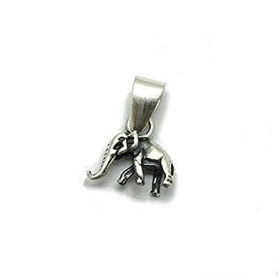 Petit pendentif en argent massif 925 éléphant PE001255