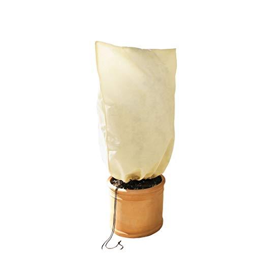 bio green sacco di protezione invernale per piante, beige