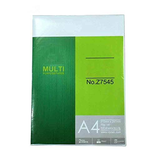 QTDH Office-Dokumentenkopierpapier - 100{5fb665939abcc92b30c6a5315ca6e7399aa3fbdfc1fcf1dab6f98925fdbf8558} Recyceltes A4-Druckerpapier - 70 G Weißes A4-Papier - Hohe Glätte - 210 X 297 (mm) (größe : Three Packs)