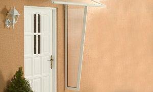 Alu-Seitenblende für Pultvordach Haustürvordach Standard weiß 53/30 x 180 cm