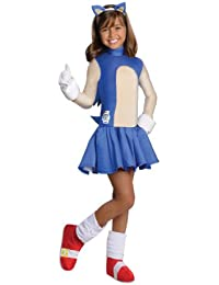 Rubies Costume Co R886974-M M-dchen Sonic The Hedgehog Kost-m Gr--e Large
