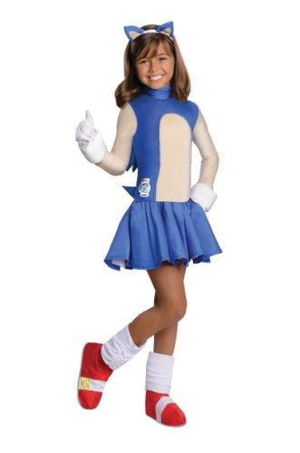 86974-M M-dchen Sonic The Hedgehog Kost-m Gr--e Large (Sonic The Hedgehog Kostüme Kinder)