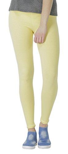 BeLady Damen Leggings Knöchellang aus Baumwolle Blickdichte Leggins Viele Farben (Gelb, S - 36)