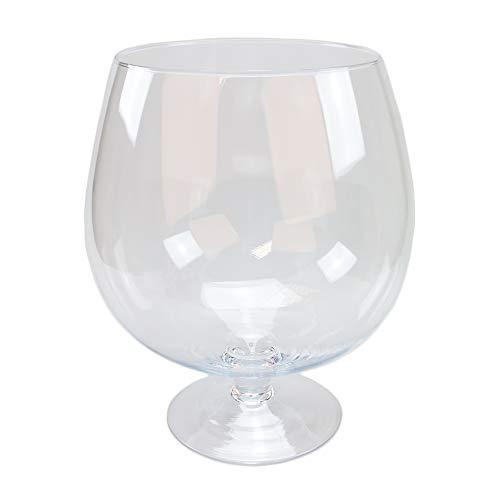 Glas Pokal Cognacglas/Bowleglas groß Höhe 38cm Ø 24cm. Dekoglas in XXL Form aus Klarglas von Glaskönig