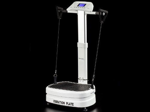 skandika Vibration Plate 1400 klappbar inklusive Trainingsbänder mit großer rutschsicheren Trainingsfläche, kraftvoller 3D-Vibration, kompakte Abmessungen, weiß