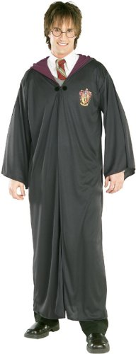 Rubie's Official Harry Potter Adult's Deluxe Gryffindor Robe Costume - Medium, Black