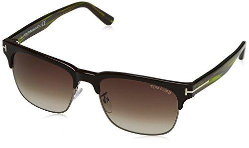 Tom Ford Herren FT0386 48K 55 Sonnenbrille, Braun (Marrone Scuro Luc/Roviex Grad),