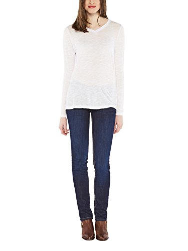 Colorado Denim Damen Langarmshirt Eliessa Weiß (WHITE 1000)