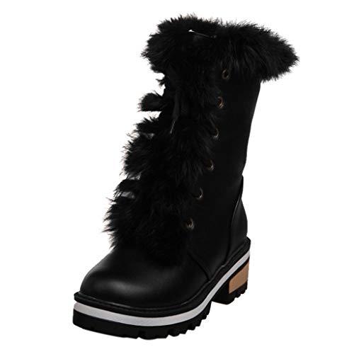 ➤Refill➤Damen Schneestiefel Schnee Dauerhaft Draussen Thermal Winter Warm Wasserdicht Mittelhoher Stiefel Regen Stiefel Stiefeletten Trekking- und Wanderschuhe Hohe Stiefel