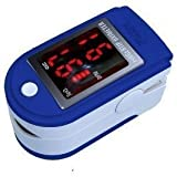 Fingertip Pulse Oximeter and Oxygen Meter CMS50DLP with Soft Case (In black, blue, pink , white or yellow)