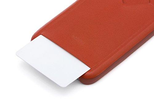 Bellroy iPhone 8 / 7 Phone Case - 1 Card aus Leder, Farbe: Arctic Blue Tamarillo