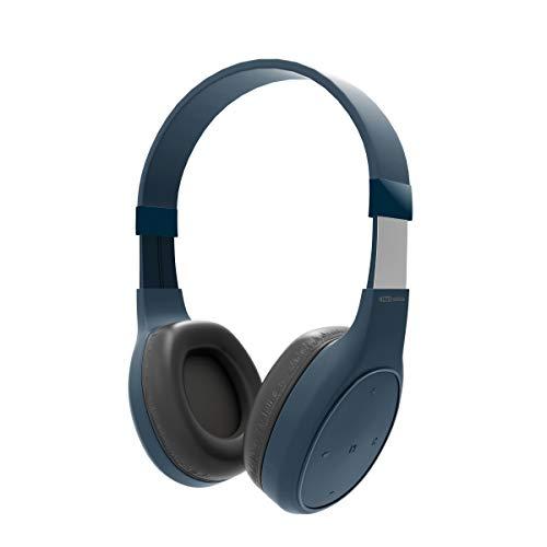 Portronics Muffs Plus Wireless Bluetooth Headphone with AUX Port  Blue