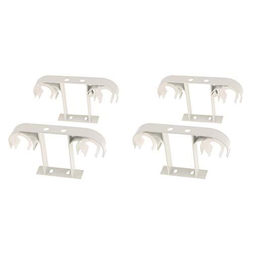 FLAMEER 4pcs Doppelte Gardinenstange Deckenhalterung Halterung