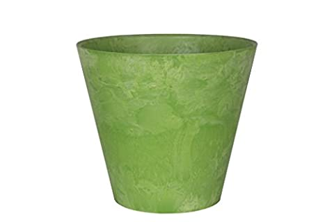 Artstone flowerpot planter Claire, frost resistant and lightweight, Lime, 17x15cm