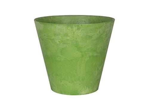 Ivyline Artstone Vaso da Fiori, per Piante Claire, Resistente al Gelo e Leggero, Verde Limone, 17x15cm
