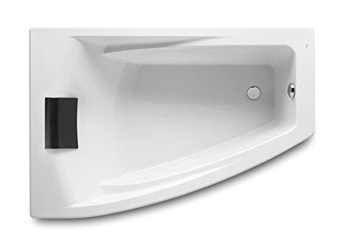 Roca a248186001Asymmetrische Badewanne Acryl abgewinkelt links mit Hydromassage insgesamt und Ablaufgarnitur