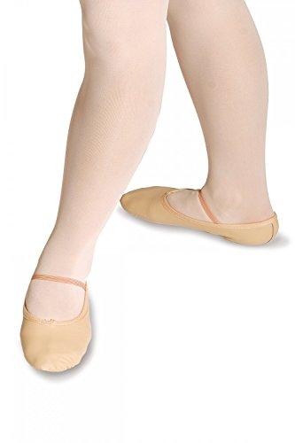 Roch Valley Ballettschläppchen aus Leder - Breite Passform Blassrosa