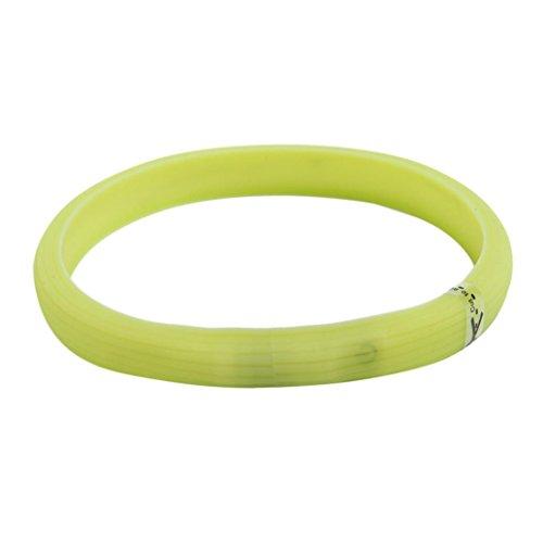 erthome Hundehalsband, Wasserdichte USB wiederaufladbare Hundehalsband LED Flashing Glowing Light Hund Katze Sicherheit Halsbänder (M (2 x 50cm), Grün) (Usb-puffer)