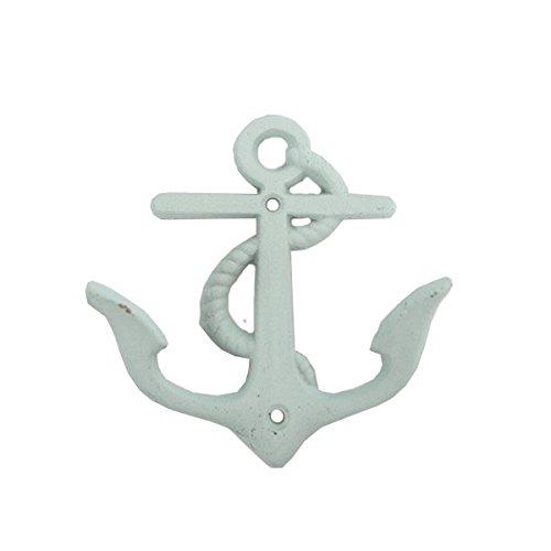 Seaside No.64 Maritime Deko Garderobenhaken Anker Eisen I Wandhaken I Kleiderhaken I (Mint)