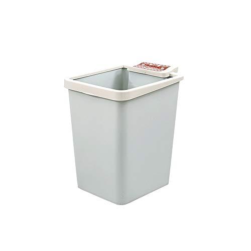SPLAN Haushalt Mülleimer PP-Material geeignet for das Wohnzimmer Schlafzimmer (Nordic Pulver, Nordic blau, Nordic grün) (Farbe : Blau)