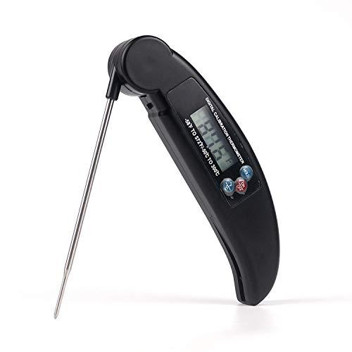 Lekoo termometro da Cucina Elettronica Digitale Pieghevole Cibo termometro per Grill, Carne, Zucchero, marmellata, Latte, Acqua, pollame, Cioccolato ECC. (batterie Non Incluse)