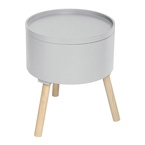 2-in-1-Kaffetisch-mit-integrierter-Aufbewahrungskiste-skandinavischer-Stil-Farbe-GRAU