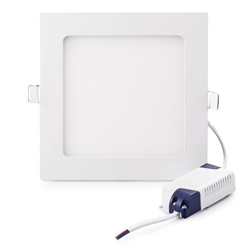 Flach LED Panel Licht, fonyun superdünn LED Panel Einbauleuchte für Home/Office/Gewerbliche Beleuchtung, Day light, Square 6W 6.00 watts (Outdoor-led-low-voltage-beleuchtung)