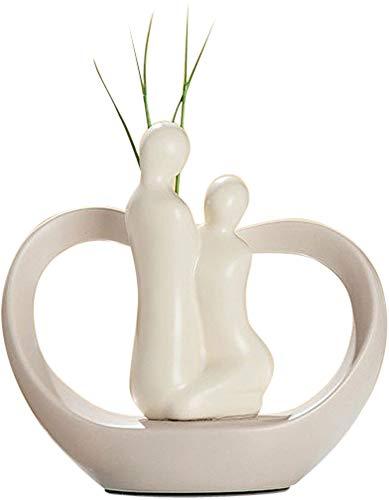 Unbekannt Vase Paire de Vase en céramique Beige Mat 20 cm