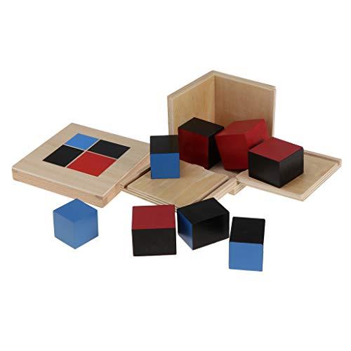 Montessori Juguetes Educativos Cubitos Binomio Aprendizaje Álgebra Y Matemáticas
