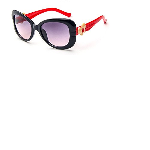 O-C Damen Sonnenbrille Black frame,red amrs