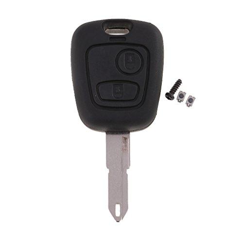 gazechimp 2 TASTEN SCHLÜSSEL GEHÄUSE Repair KIT Für Peugeot 206 Switches