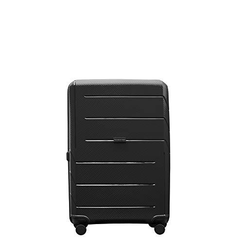 PACO MARTINEZ   Großer Koffer Airbox Black TSA-Polypropylen 4 Räder 66 L. - Rädern Koffer