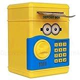 SaShi Kid's Plastic Safe with Smart Lock Piggy Bank ATM (Yellow)