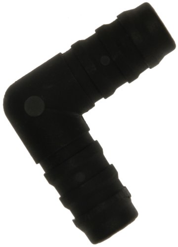 W4 Raccord de tuyau Coude – Noir, 1/5,1 cm