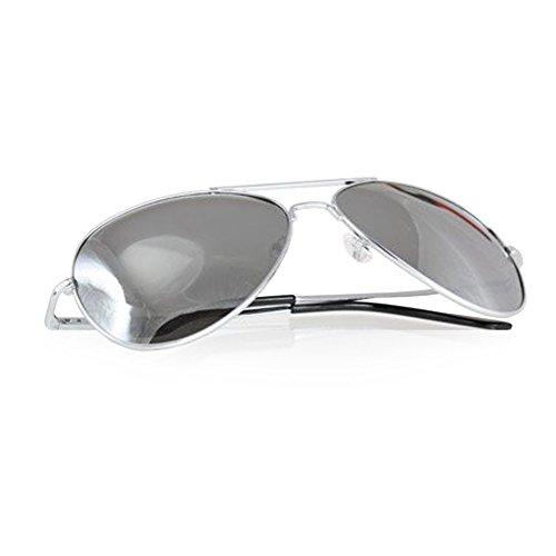 871e054e9578e5 eeddoo lunettes de soleil d aviateur argent avec verres miroir
