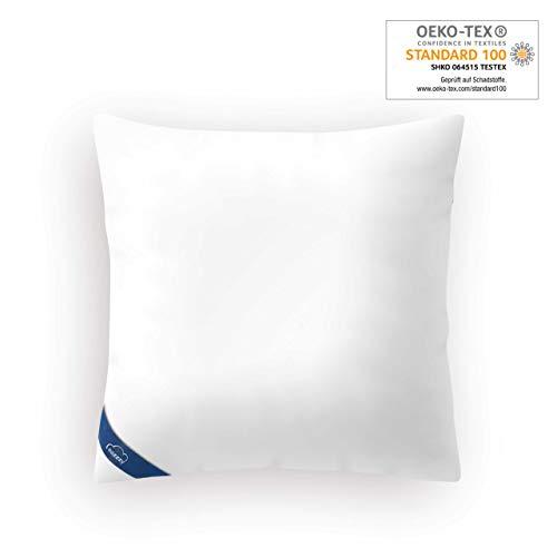 Genius eazzzy Kopfkissen 80 x 80 cm   Milchfaser   Baby- und Allergikergeeignet   stützend   Oeko-TEX   Bekannt aus TV   NEU
