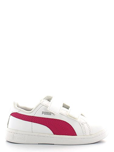 Puma , Baskets pour garçon - White-fuchsia purple