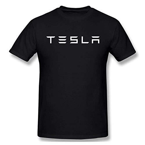 Mens Vintage Tesla Logo T Shirt Black L