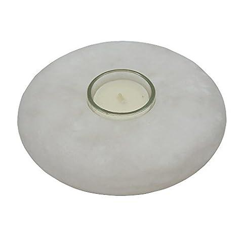 Alabaster Teelicht UFO, Durchmesser 13 x 3 cm