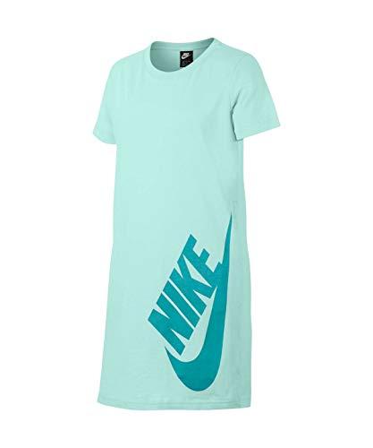 Nike Mädchen G NSW Dress Tshirt Kleid, Blaugrüne Tönung/Hütte, S -