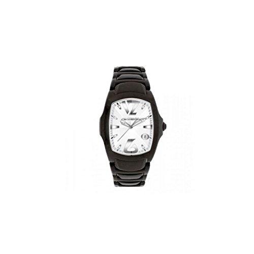Chronotech–Reloj para hombre solo tiempo Chronotech de acero PVD negro.